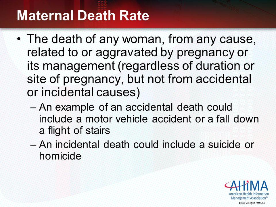 Maternal Death Rate
