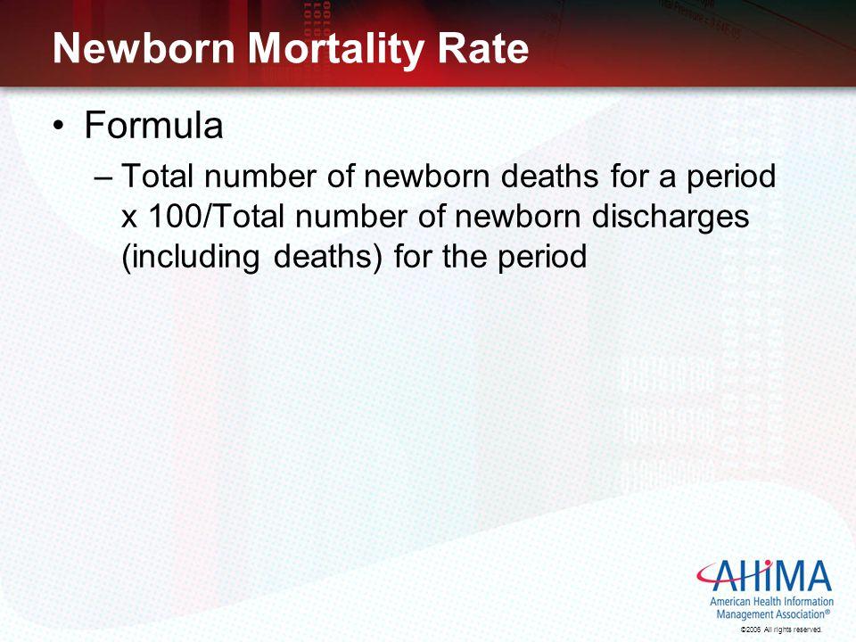 Newborn Mortality Rate