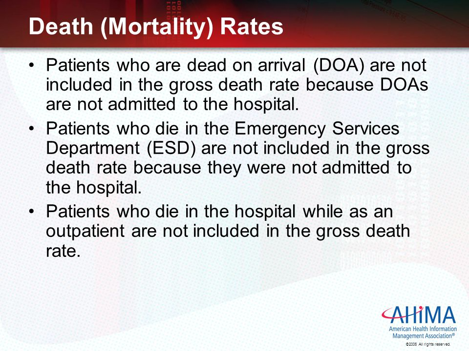 Death (Mortality) Rates