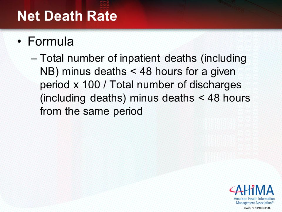 Net Death Rate Formula.
