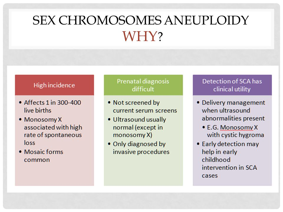 Sex Chromosomes Aneuploidy Why