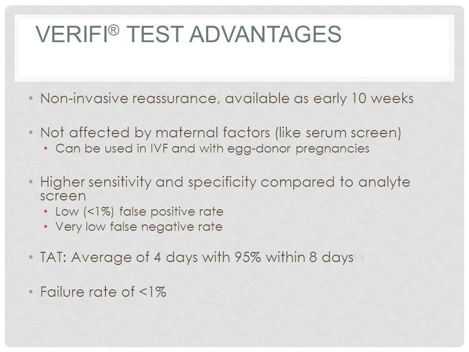 verifi® test Advantages
