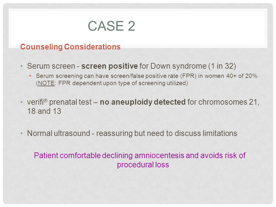 Case 2 Counseling Considerations