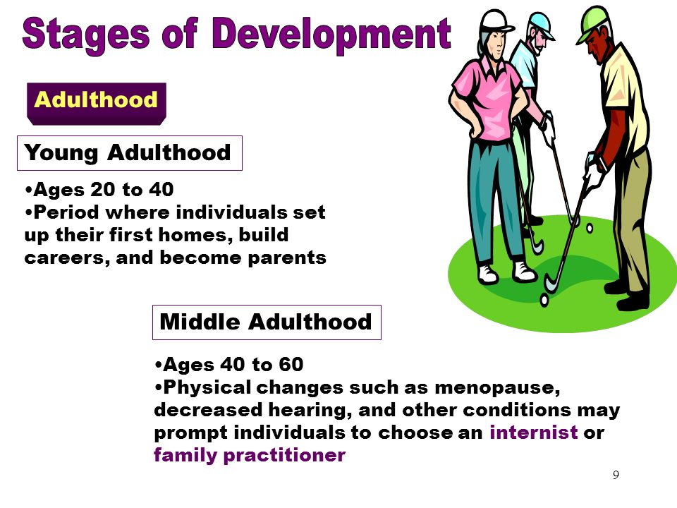 Adulthood Stages of Development Adulthood Young Adulthood