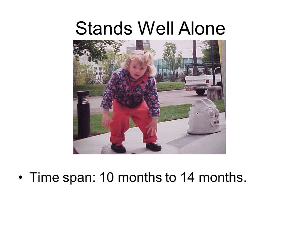 Stands Well Alone Time span: 10 months to 14 months.