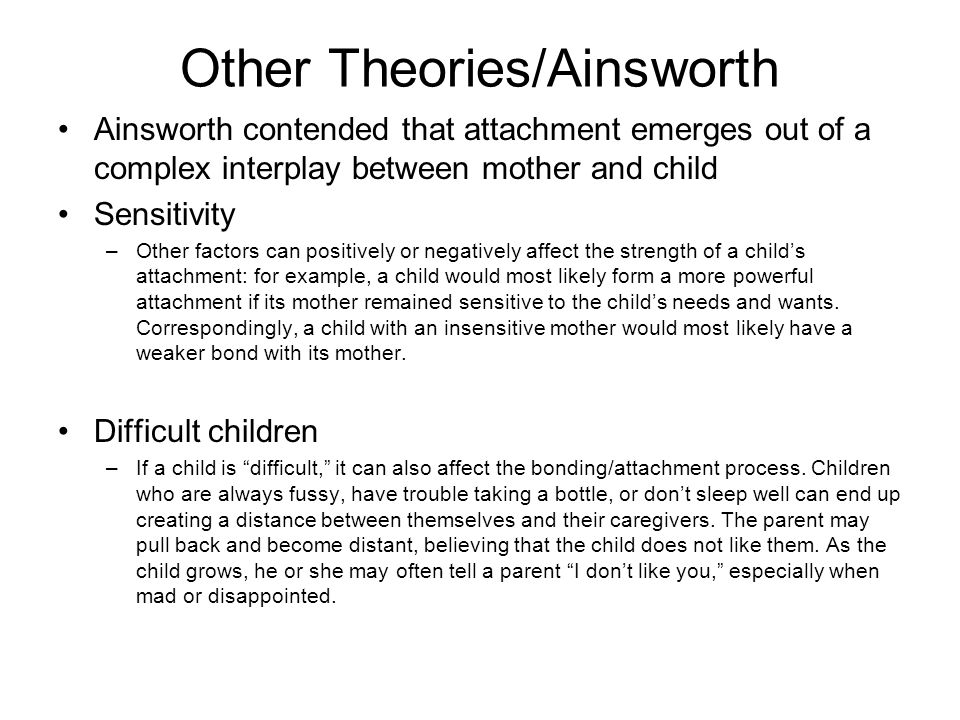Other Theories/Ainsworth