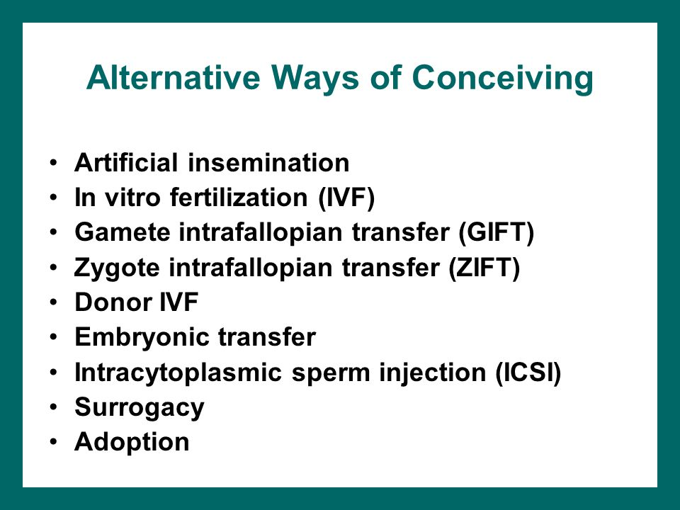 Alternative Ways of Conceiving