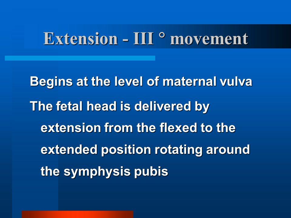 Extension - III  movement