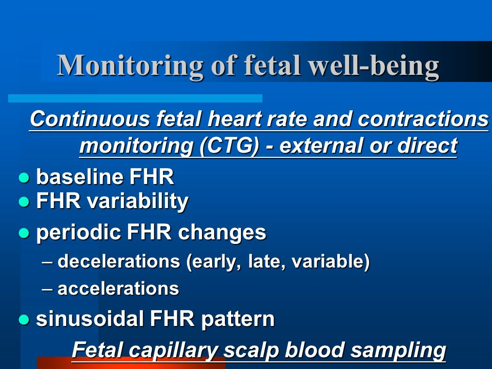 Monitoring of fetal well-being