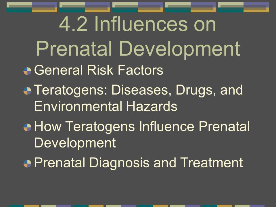 4.2 Influences on Prenatal Development