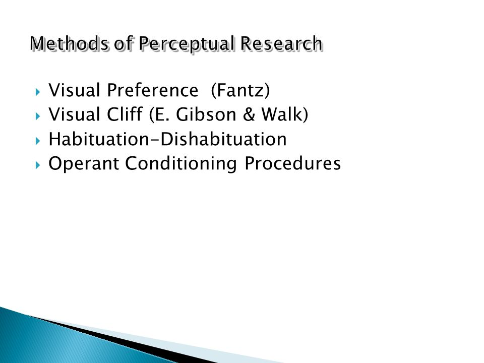 Methods of Perceptual Research