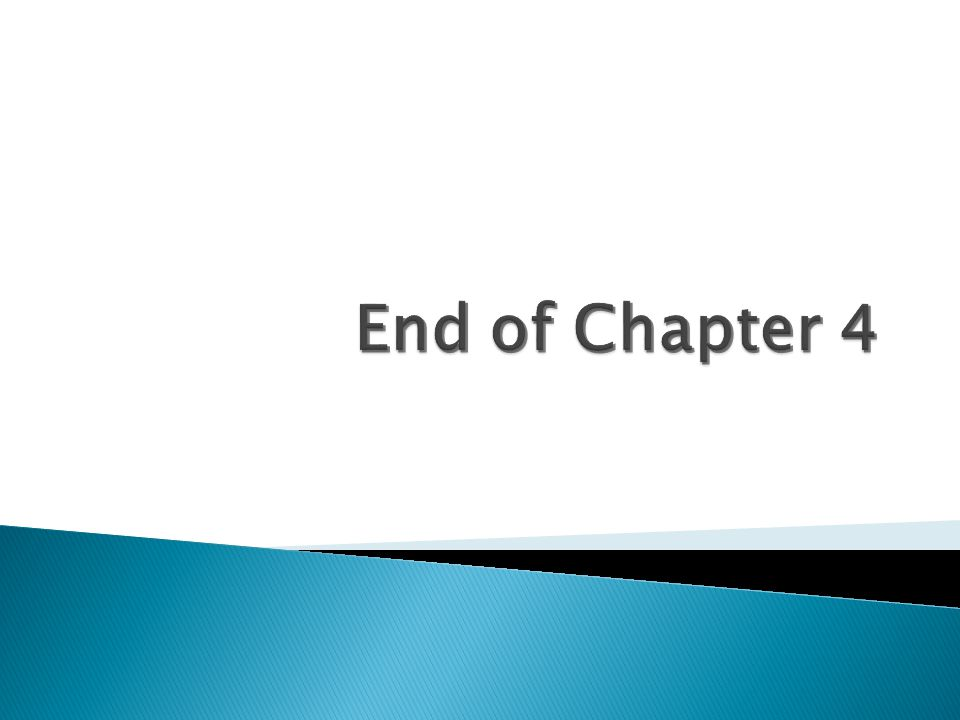 End of Chapter 4 Delete