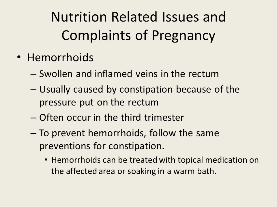 Nutrition Related Issues and Complaints of Pregnancy