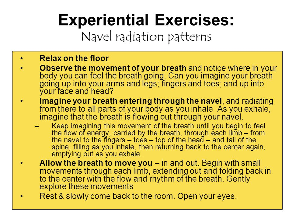 Experiential Exercises: Navel radiation patterns