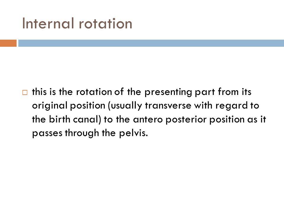 Internal rotation