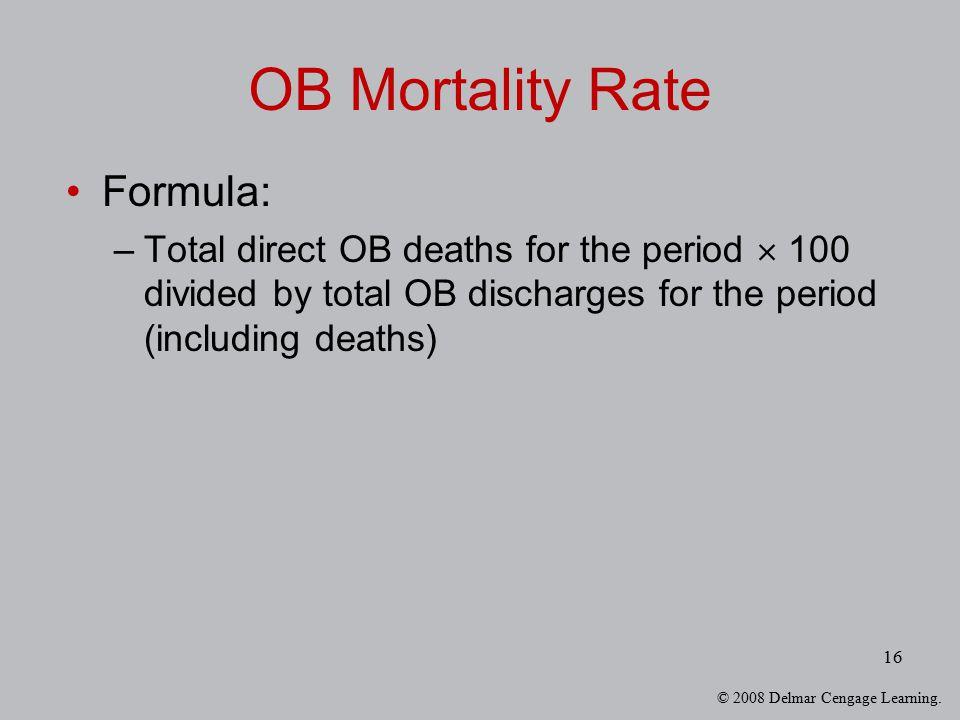 OB Mortality Rate Formula: