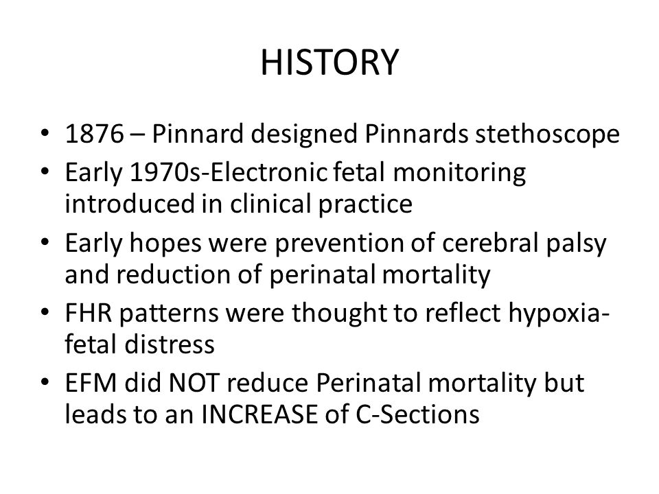 HISTORY 1876 – Pinnard designed Pinnards stethoscope