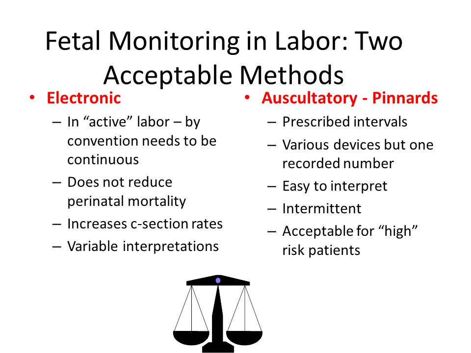 Fetal Monitoring in Labor: Two Acceptable Methods