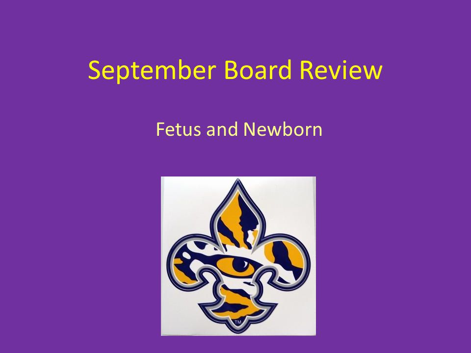 September Board Review