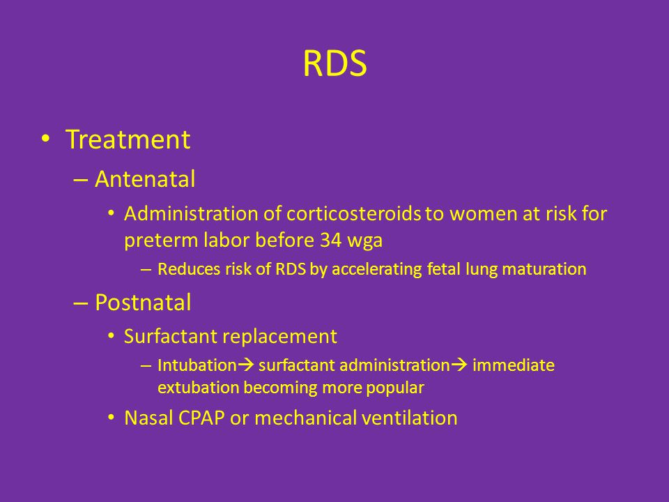 RDS Treatment Antenatal Postnatal