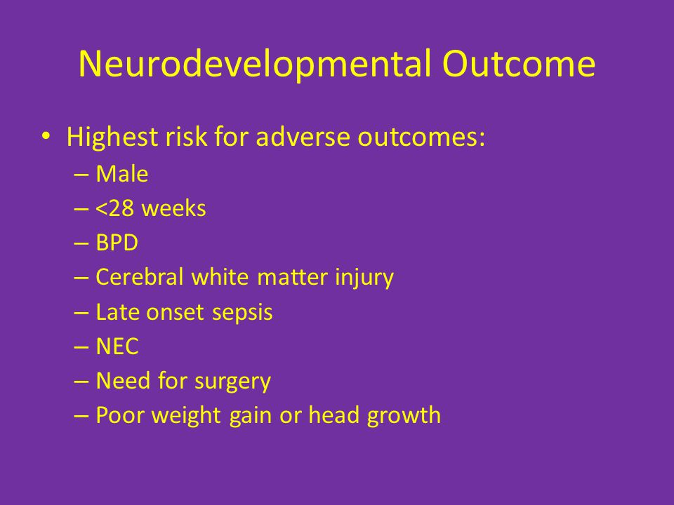 Neurodevelopmental Outcome