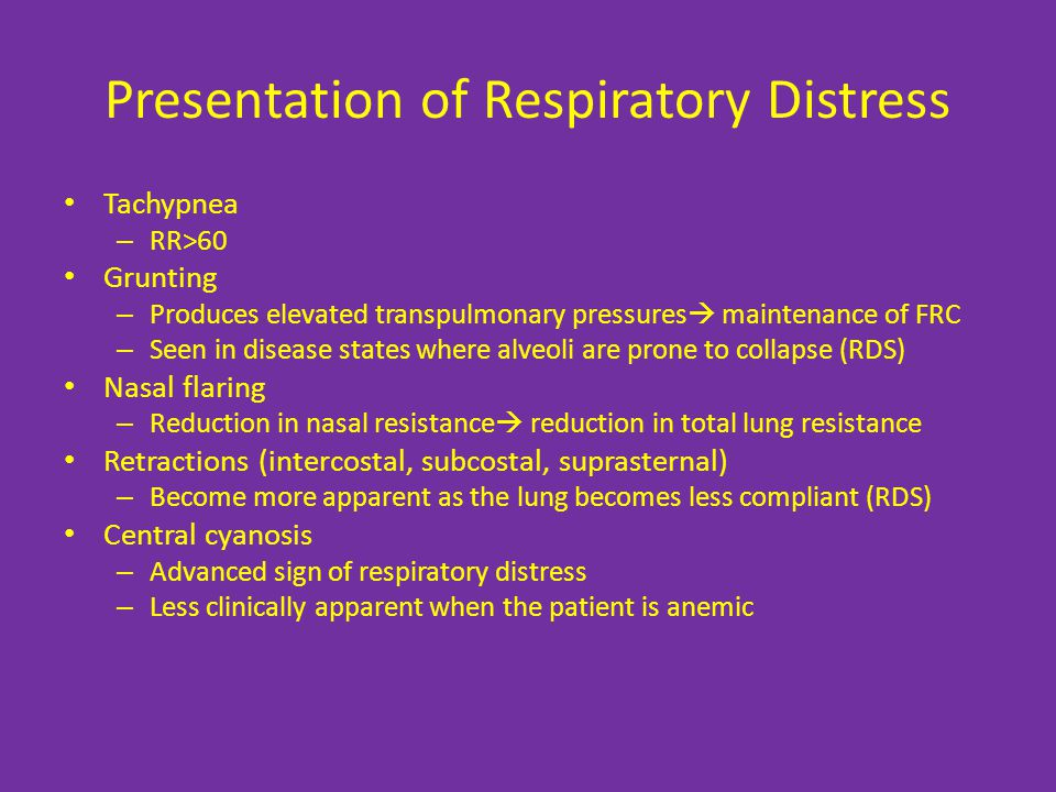 Presentation of Respiratory Distress