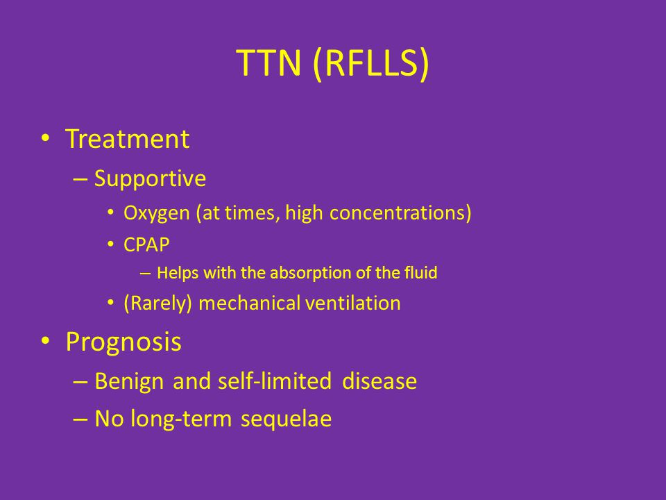 TTN (RFLLS) Treatment Prognosis Supportive