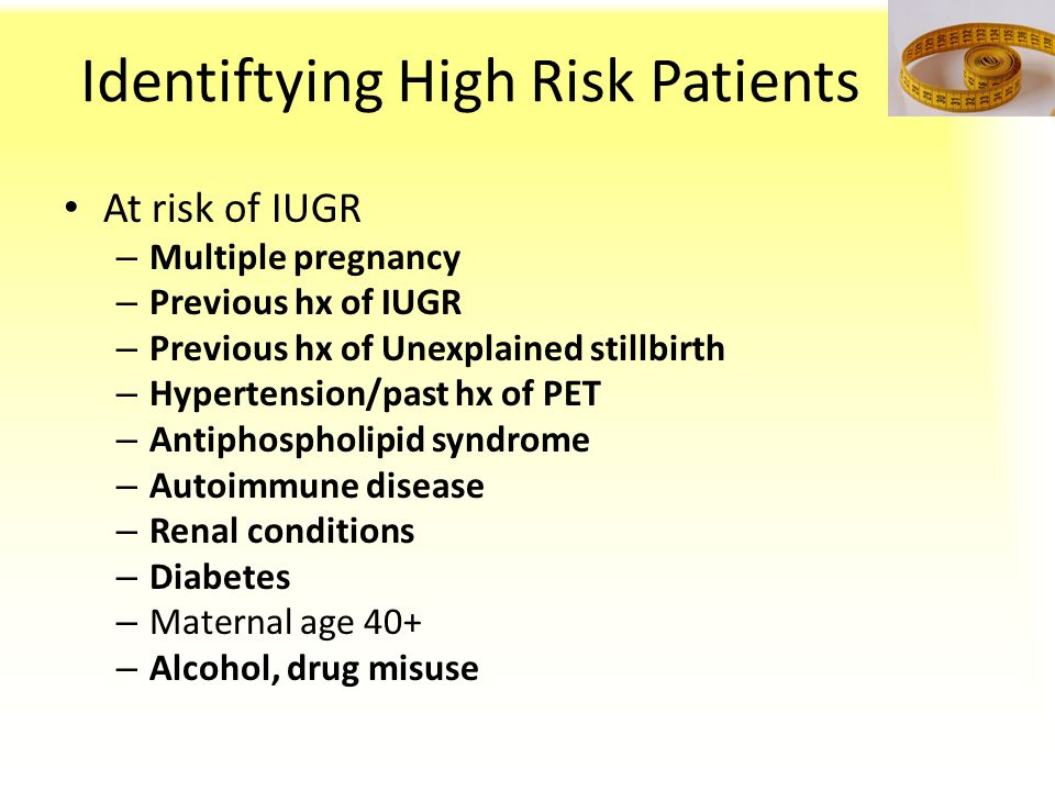 Identiftying High Risk Patients