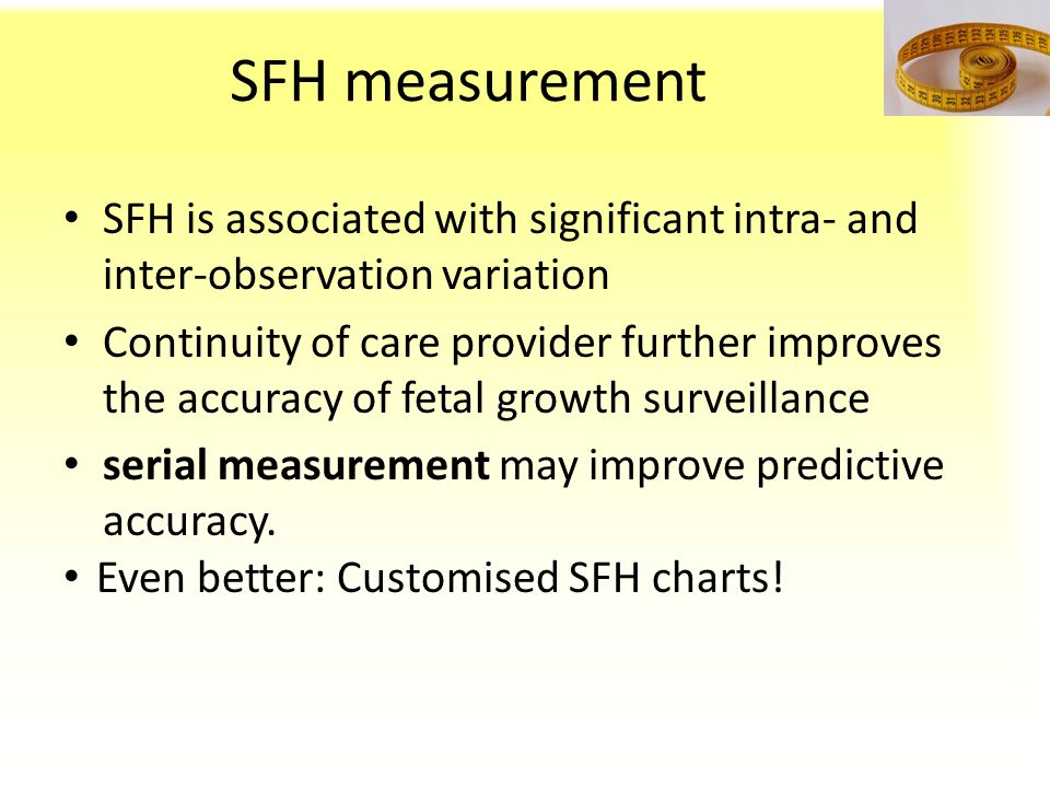 SFH measurement SFH is associated with significant intra- and inter-observation variation.