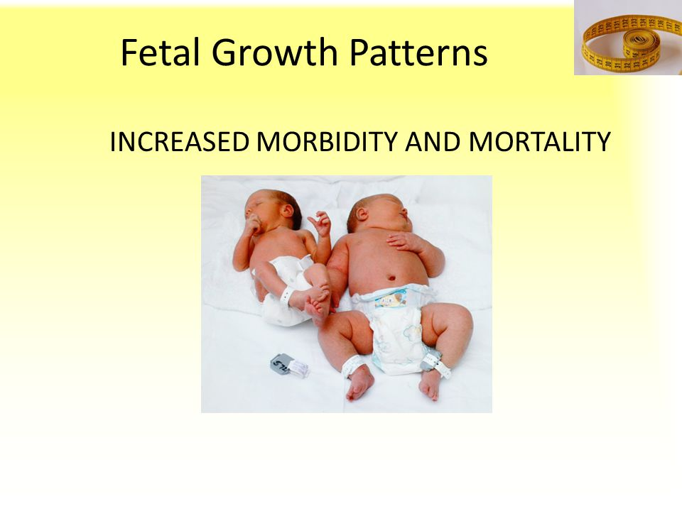 Fetal Growth Patterns INCREASED MORBIDITY AND MORTALITY