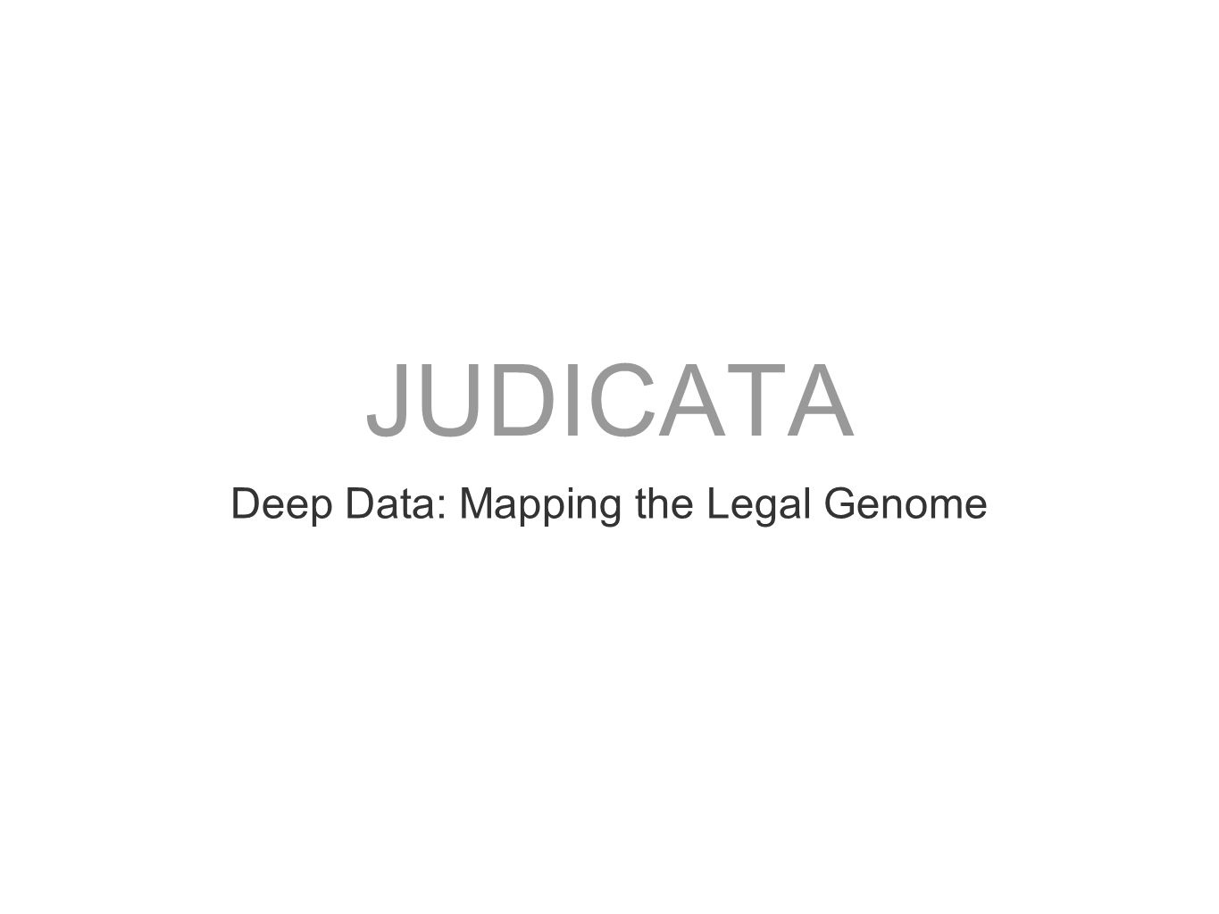 Deep Data: Mapping the Legal Genome