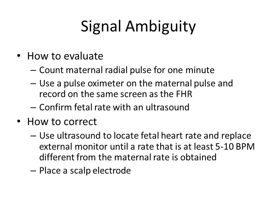 Signal Ambiguity How to evaluate How to correct