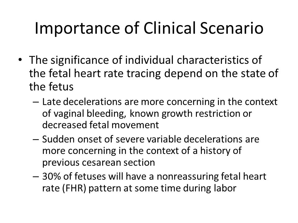 Importance of Clinical Scenario