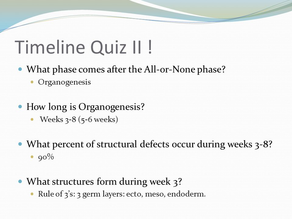 Timeline Quiz II ! What phase comes after the All-or-None phase