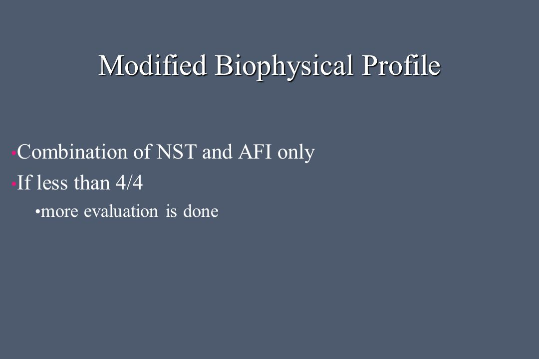 Modified Biophysical Profile