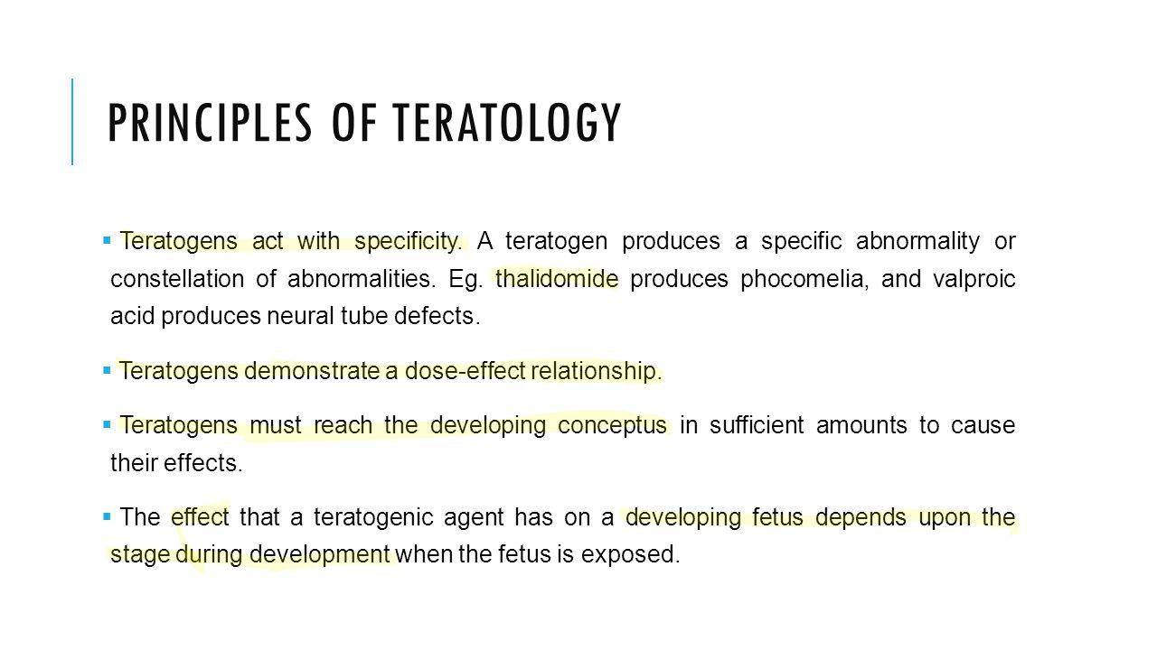Principles of teratology