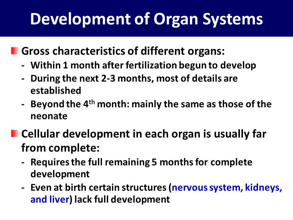 Development of Organ Systems