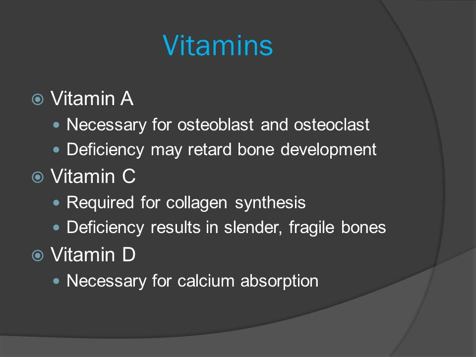 Vitamins Vitamin A Vitamin C Vitamin D
