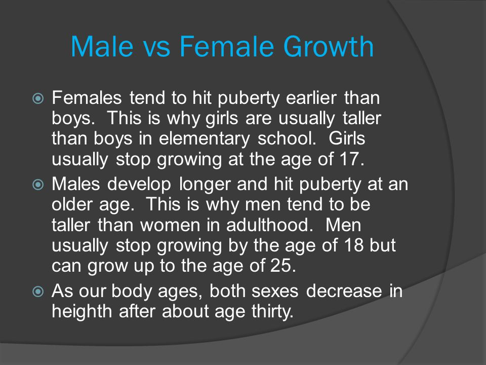 Male vs Female Growth