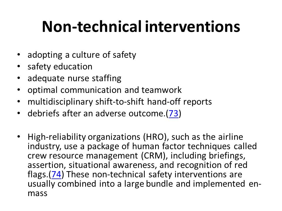 Non-technical interventions
