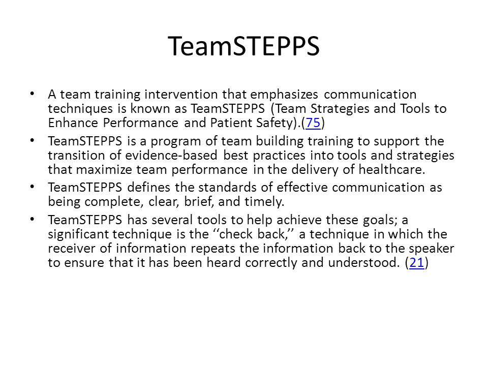 TeamSTEPPS