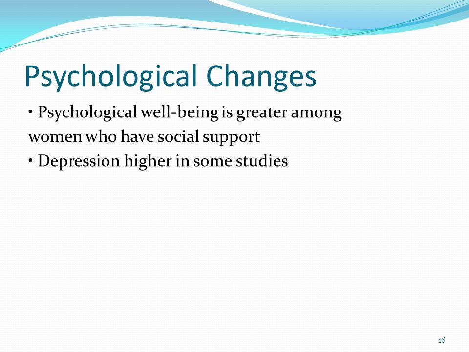 Psychological Changes