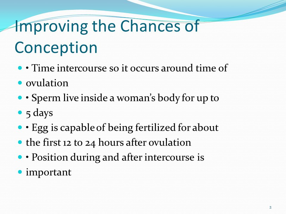 Improving the Chances of Conception