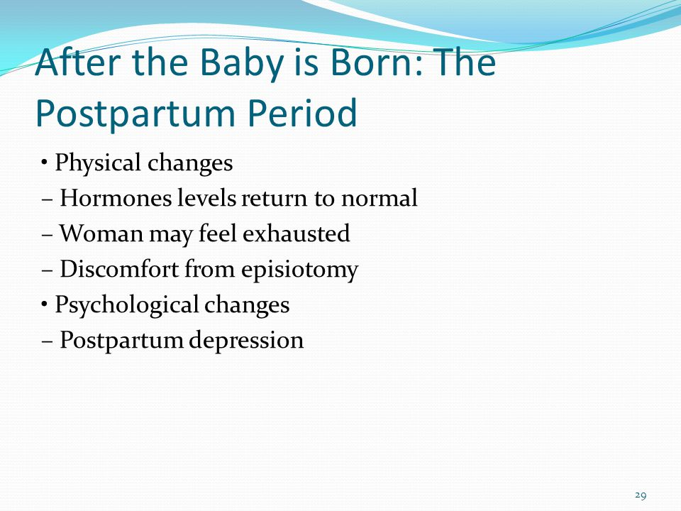 After the Baby is Born: The Postpartum Period