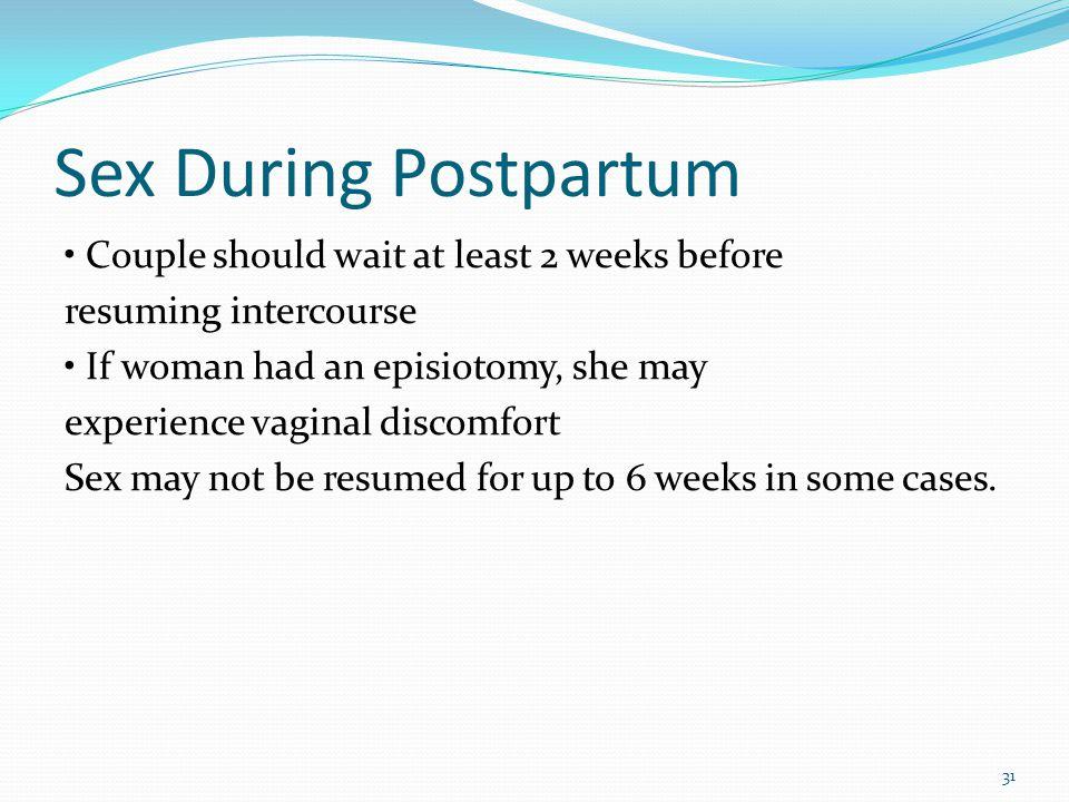 Sex During Postpartum