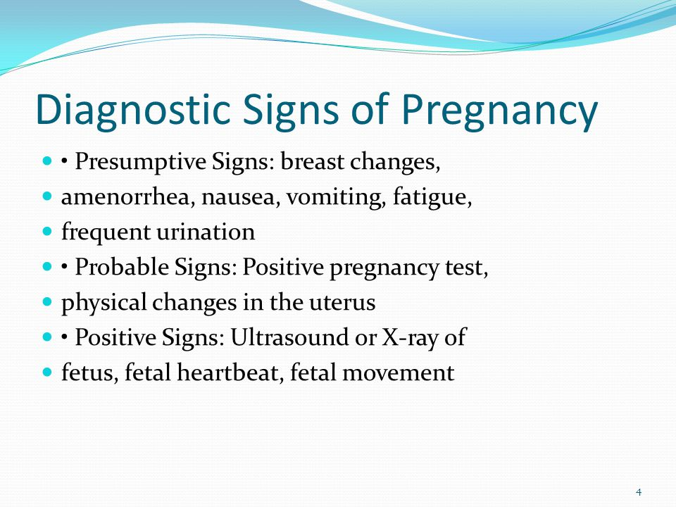 Diagnostic Signs of Pregnancy
