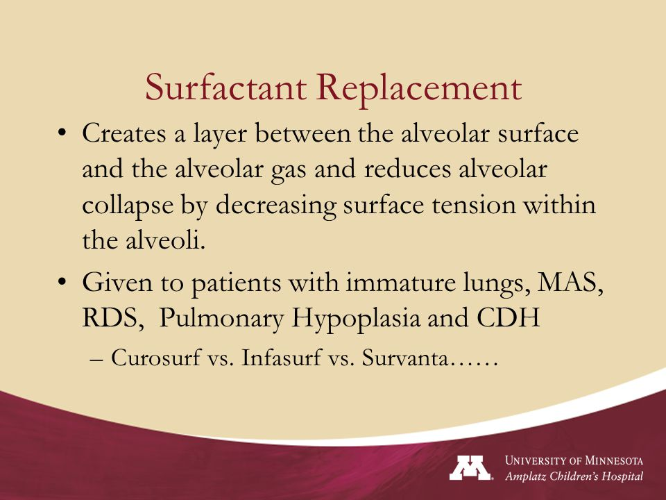 Surfactant Replacement