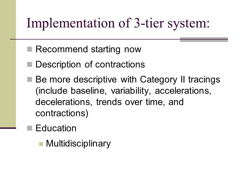 Implementation of 3-tier system: