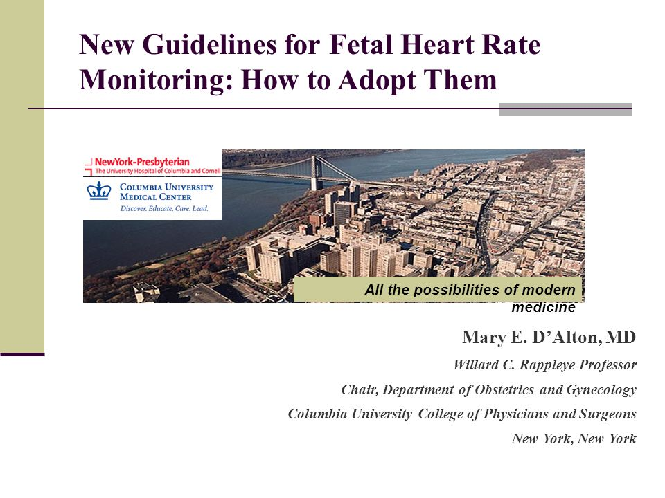 New Guidelines for Fetal Heart Rate Monitoring: How to Adopt Them