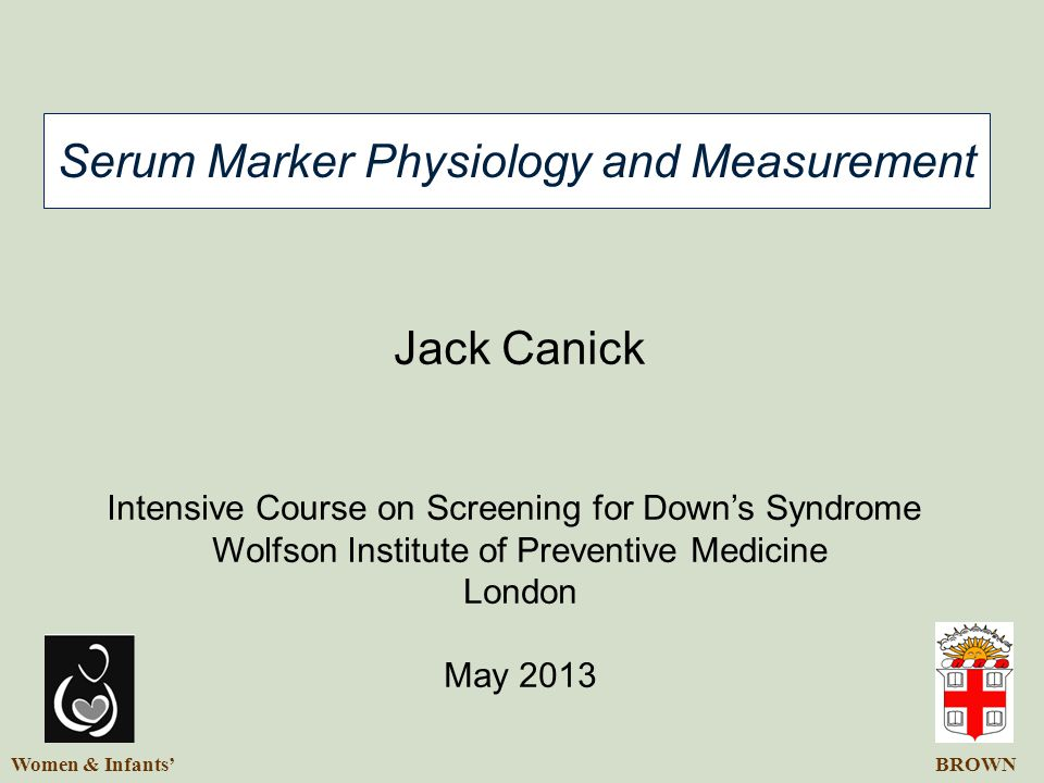 Serum Marker Physiology and Measurement